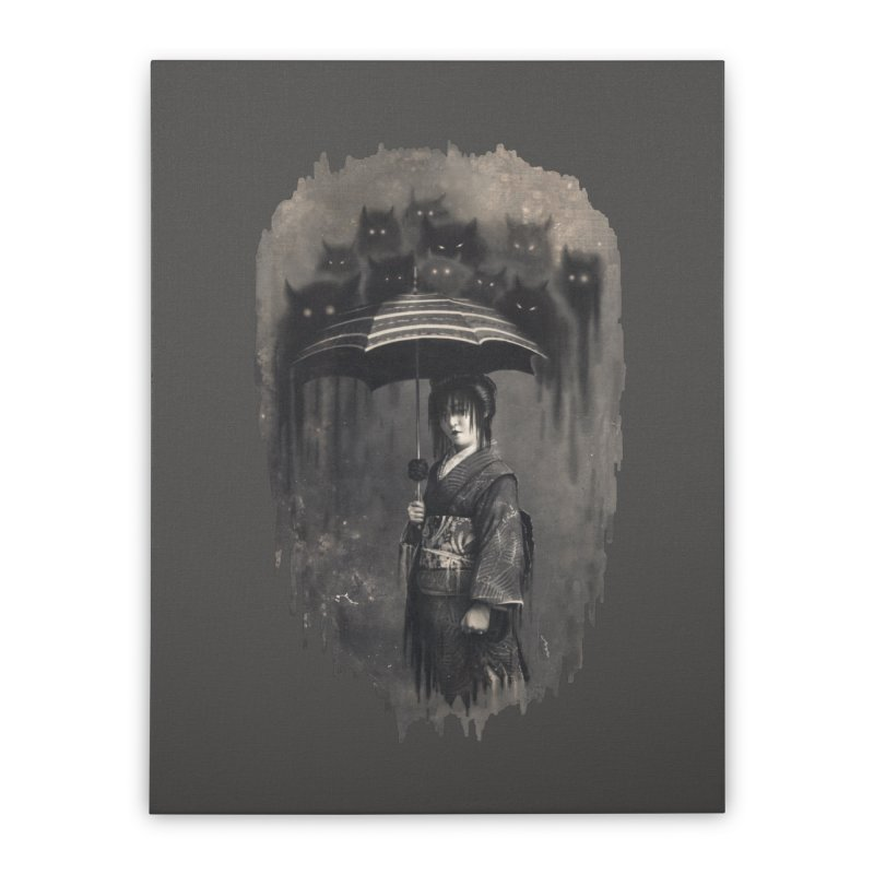 Lady Rain Home Stretched Canvas by 38 Sunsets