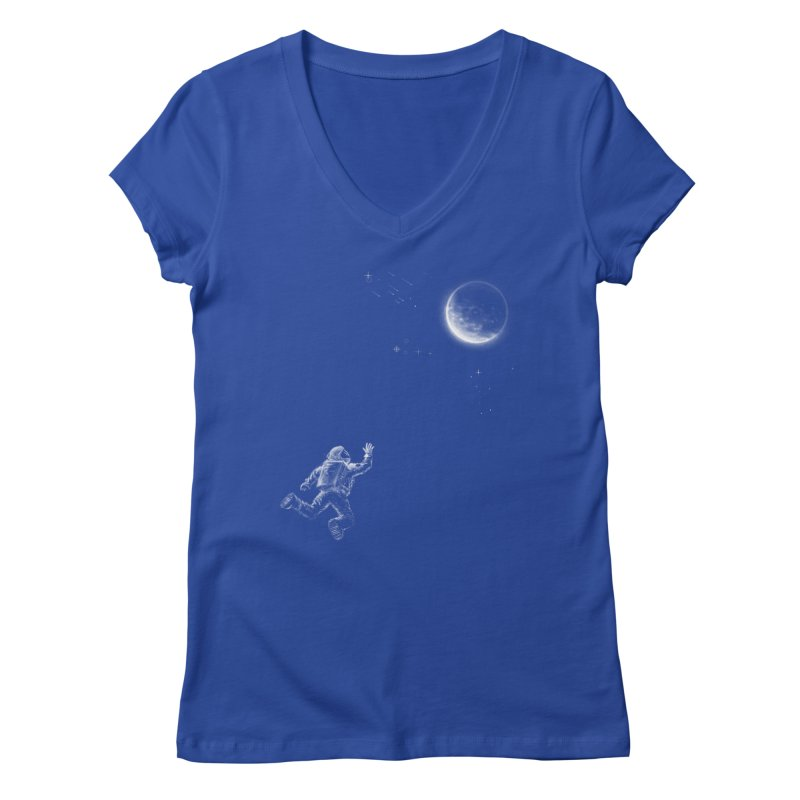 Reach for the Stars Women's Regular V-Neck by 38 Sunsets