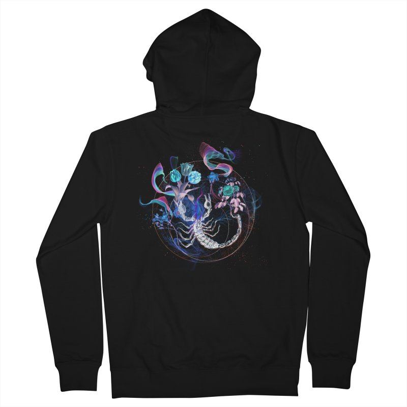 Acid Scorpion Men's French Terry Zip-Up Hoody by 38 Sunsets