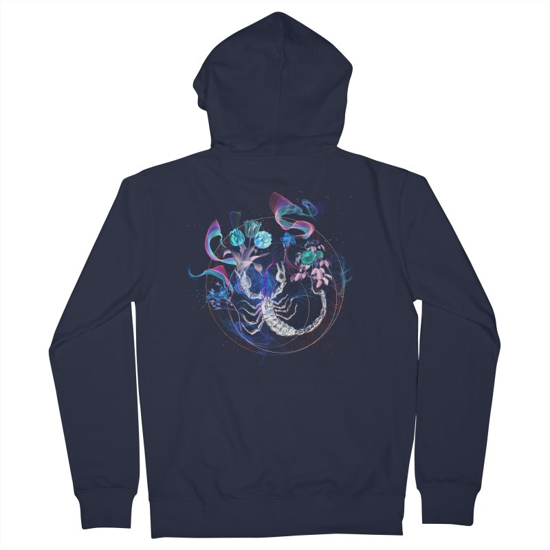 Acid Scorpion Men's Zip-Up Hoody by 38 Sunsets