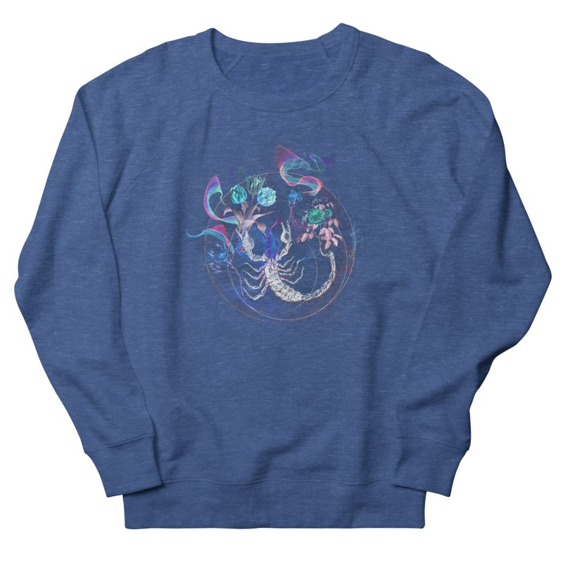 Acid Scorpion Men's French Terry Sweatshirt by 38 Sunsets