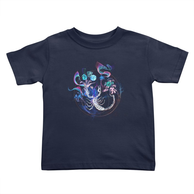Acid Scorpion Kids Toddler T-Shirt by 38 Sunsets