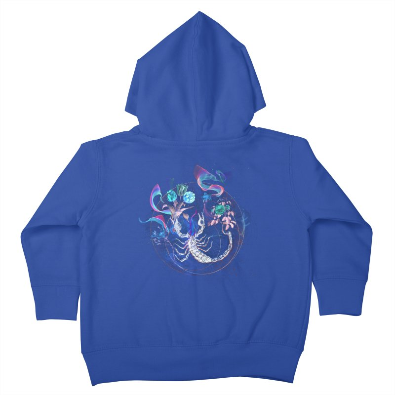 Acid Scorpion Kids Toddler Zip-Up Hoody by 38 Sunsets