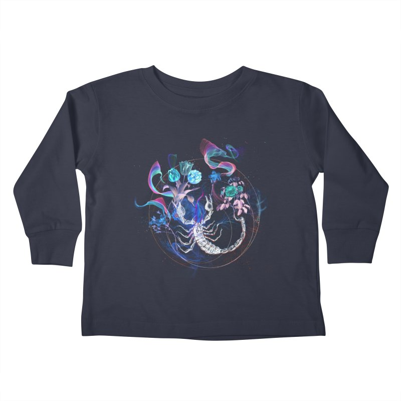 Acid Scorpion Kids Toddler Longsleeve T-Shirt by 38 Sunsets