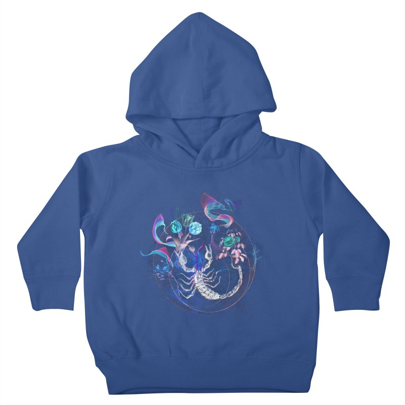 Acid Scorpion Kids Toddler Pullover Hoody by 38 Sunsets