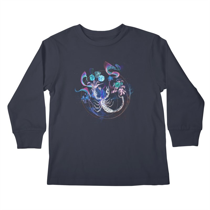 Acid Scorpion Kids Longsleeve T-Shirt by 38 Sunsets