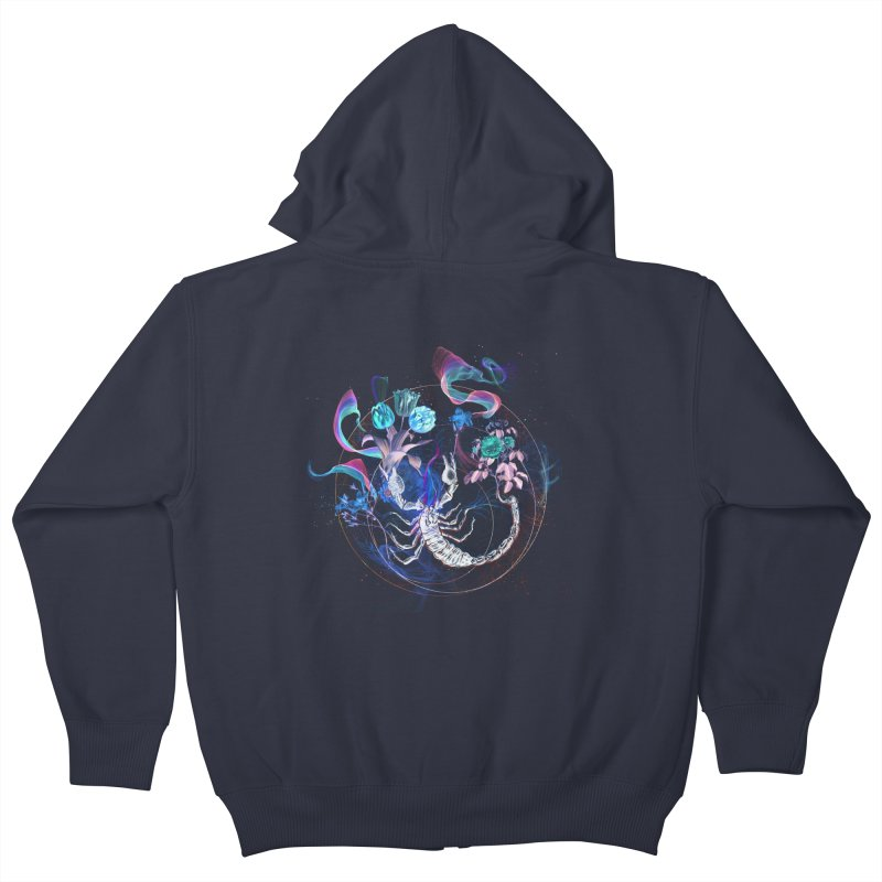 Acid Scorpion Kids Zip-Up Hoody by 38 Sunsets