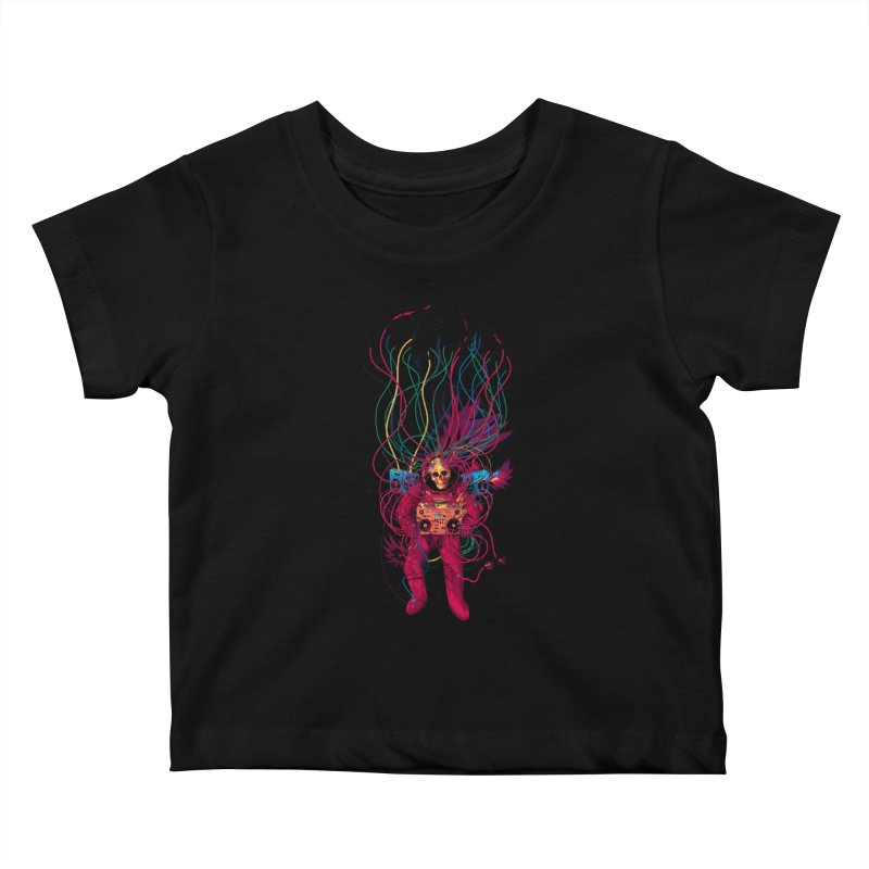 Sound Connection Kids Baby T-Shirt by 38 Sunsets