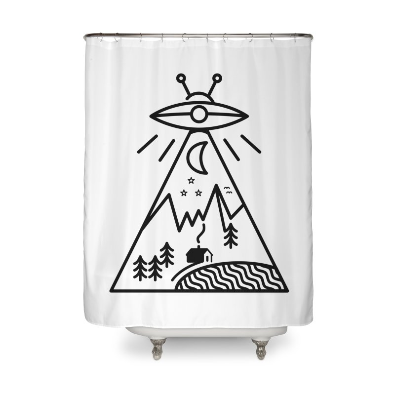 They Made Us Home Shower Curtain by 38 Sunsets