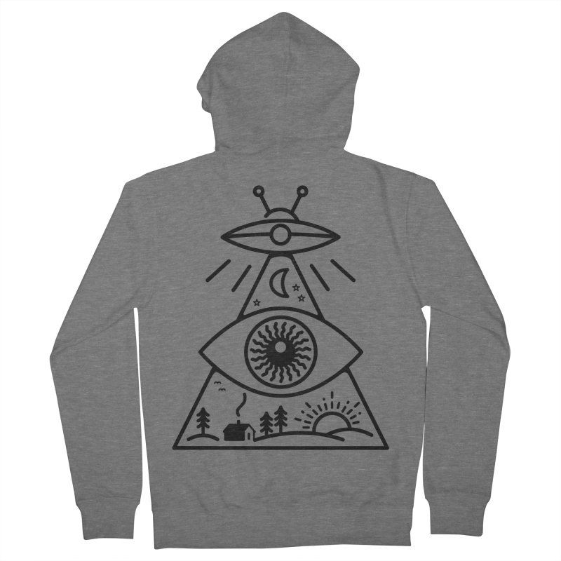 They Watch Us Women's French Terry Zip-Up Hoody by 38 Sunsets