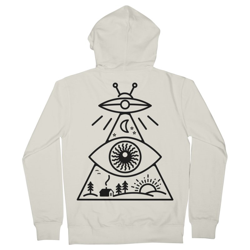 They Watch Us Men's Zip-Up Hoody by 38 Sunsets