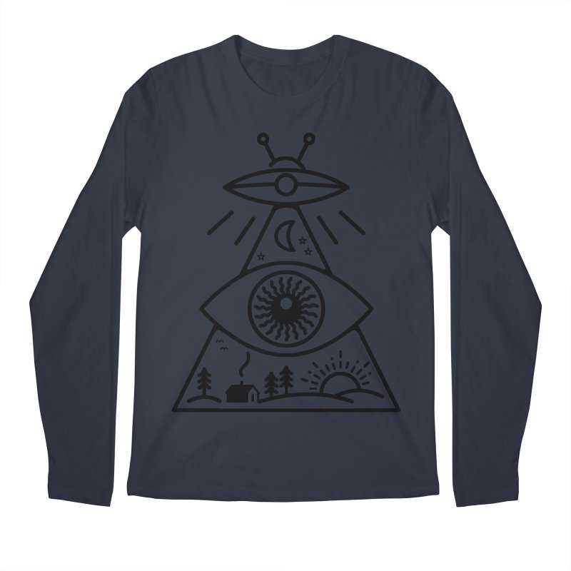 They Watch Us Men's Regular Longsleeve T-Shirt by 38 Sunsets