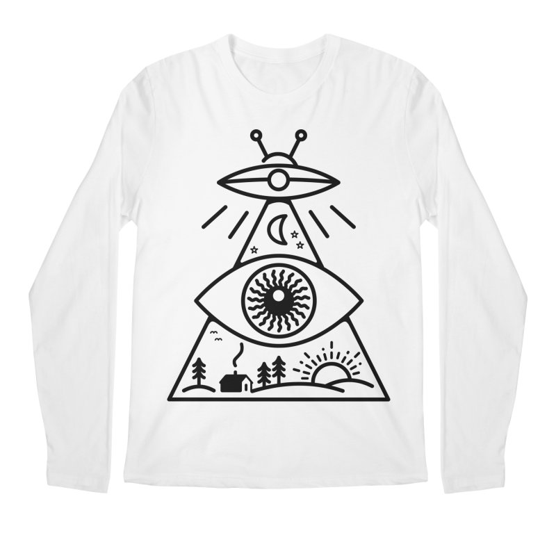 They Watch Us in Men's Longsleeve T-Shirt White by 38 Sunsets