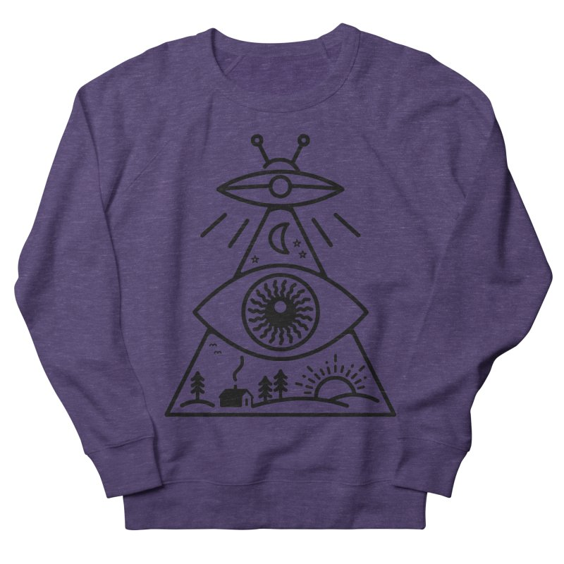 They Watch Us Men's French Terry Sweatshirt by 38 Sunsets