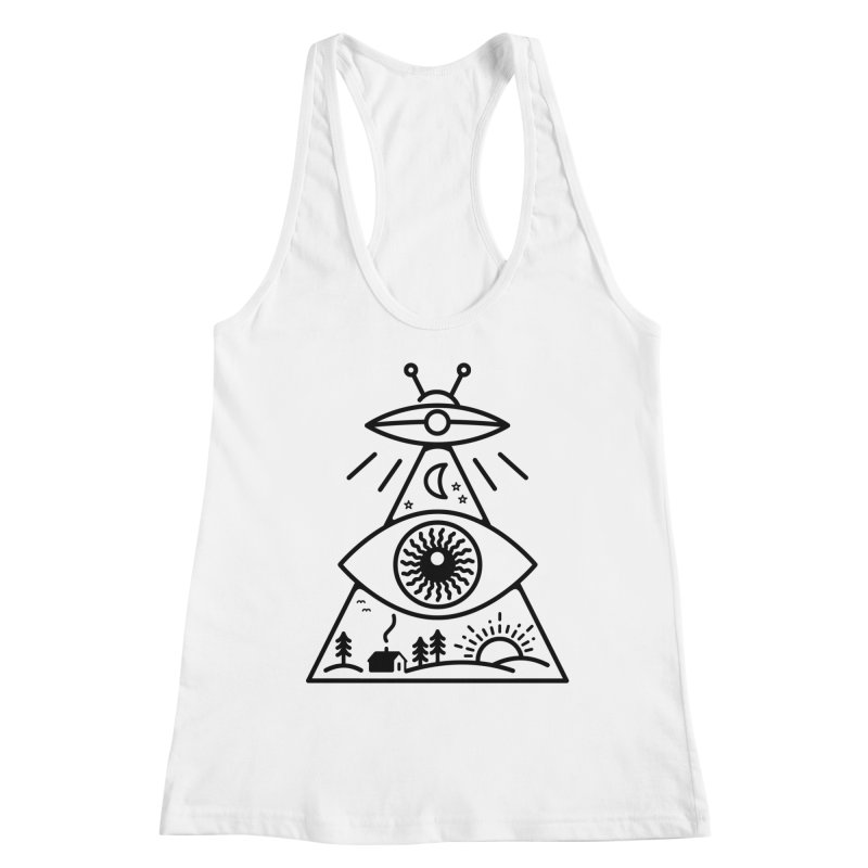They Watch Us Women's Racerback Tank by 38 Sunsets
