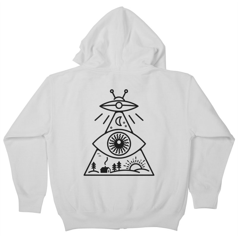 They Watch Us Kids Zip-Up Hoody by 38 Sunsets