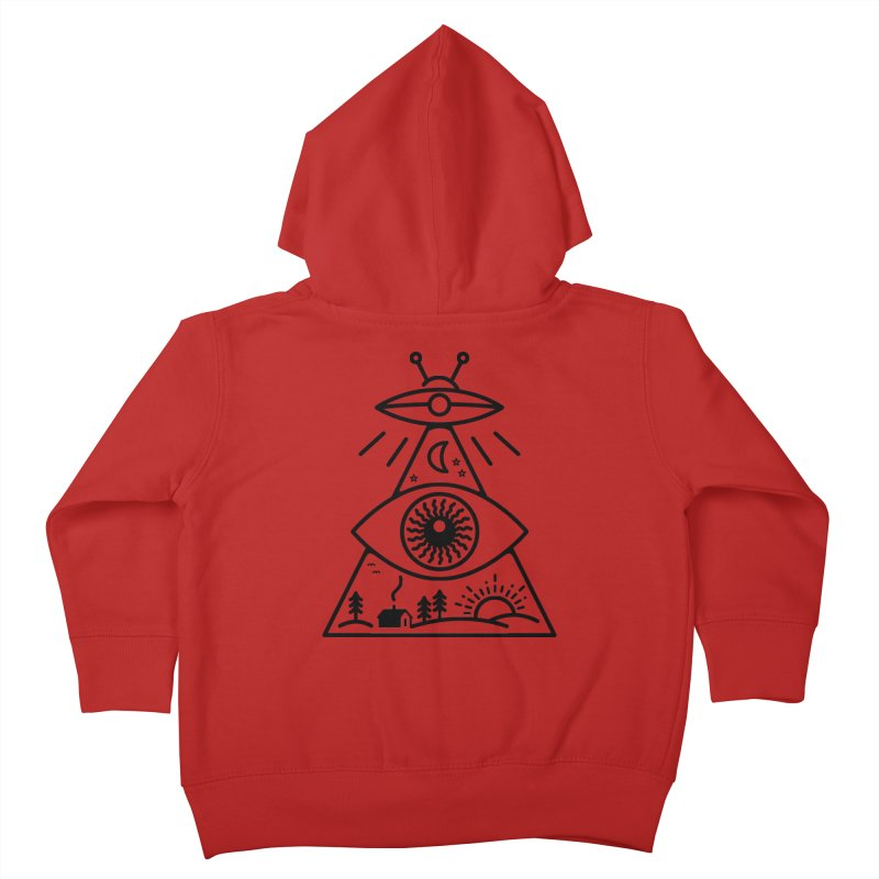 They Watch Us Kids Toddler Zip-Up Hoody by 38 Sunsets