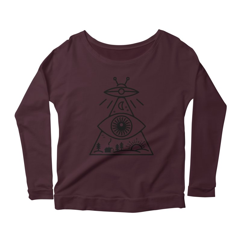 They Watch Us Women's Scoop Neck Longsleeve T-Shirt by 38 Sunsets