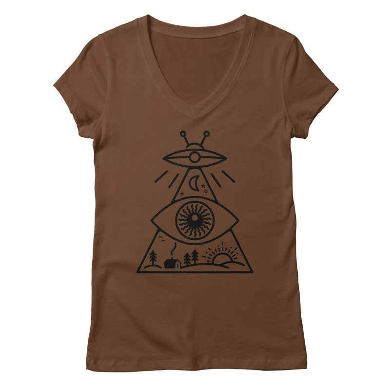 They Watch Us Women's V-Neck by 38 Sunsets
