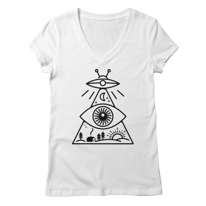 They Watch Us Women's Regular V-Neck by 38 Sunsets