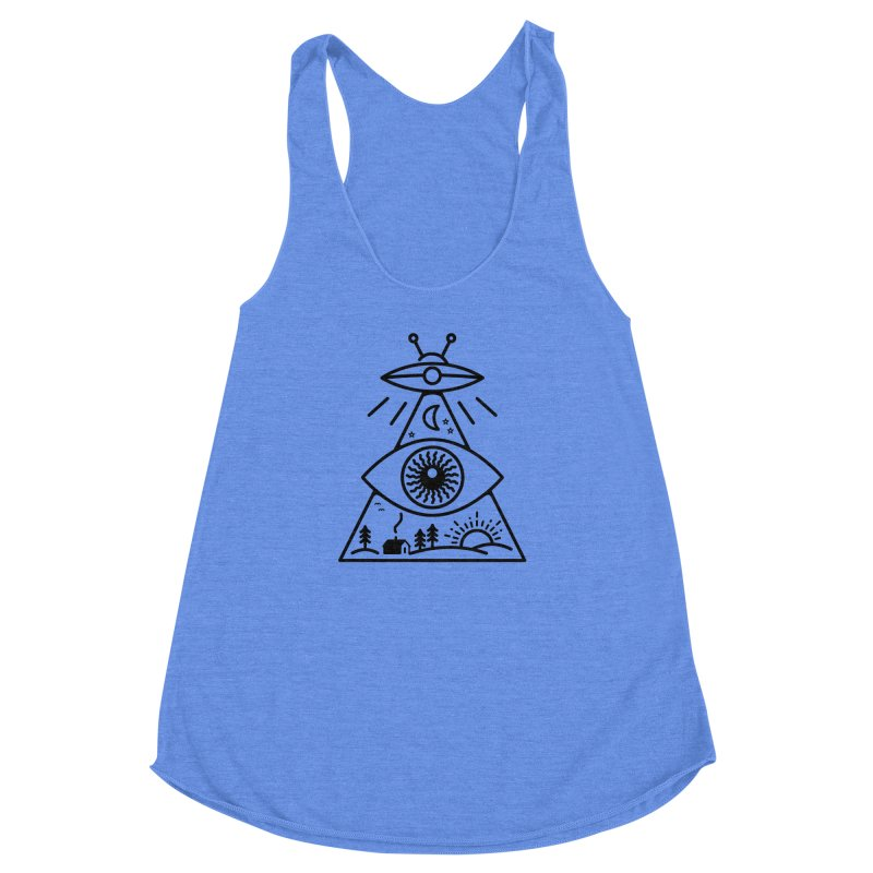 They Watch Us Women's Racerback Triblend Tank by 38 Sunsets