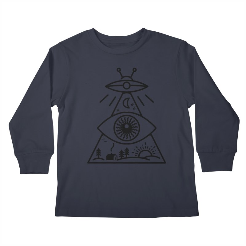 They Watch Us Kids Longsleeve T-Shirt by 38 Sunsets
