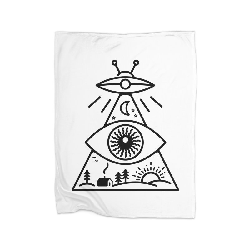 They Watch Us Home Fleece Blanket by 38 Sunsets