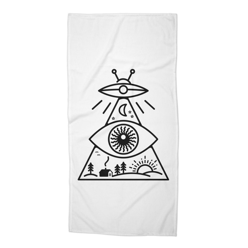 They Watch Us Accessories Beach Towel by 38 Sunsets