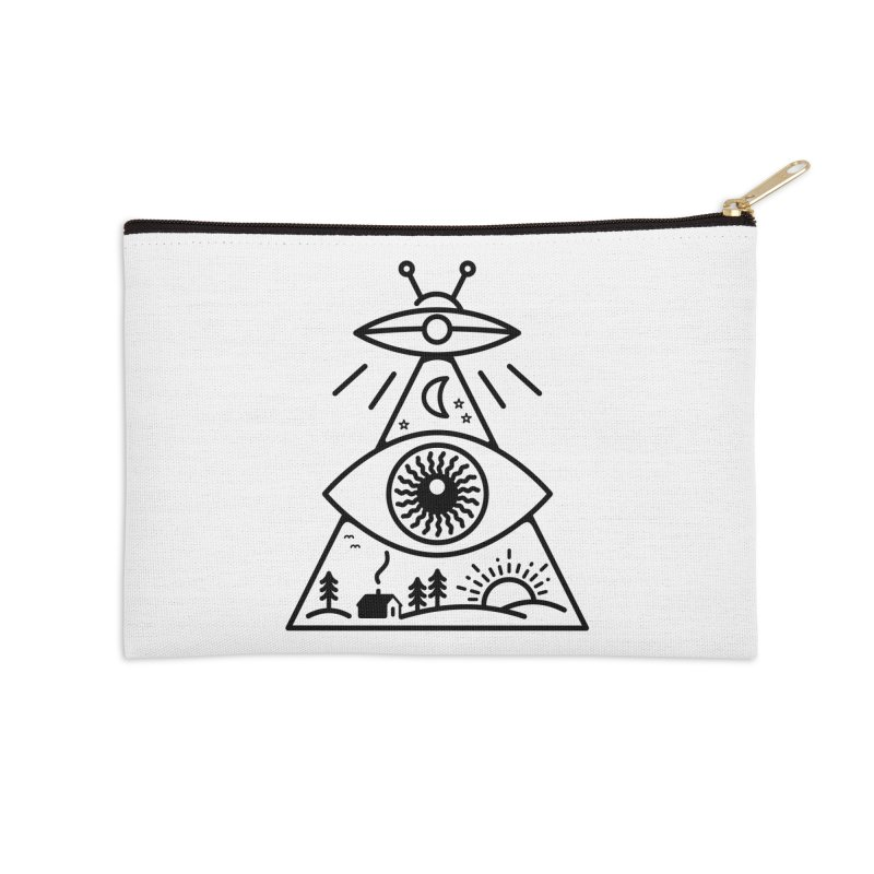 They Watch Us Accessories Zip Pouch by 38 Sunsets