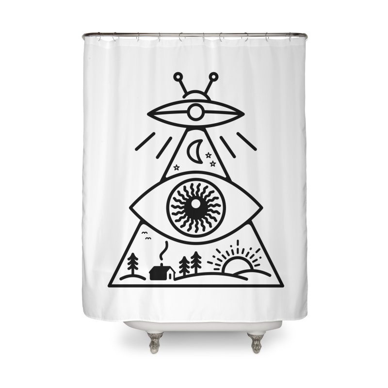 They Watch Us Home Shower Curtain by 38 Sunsets