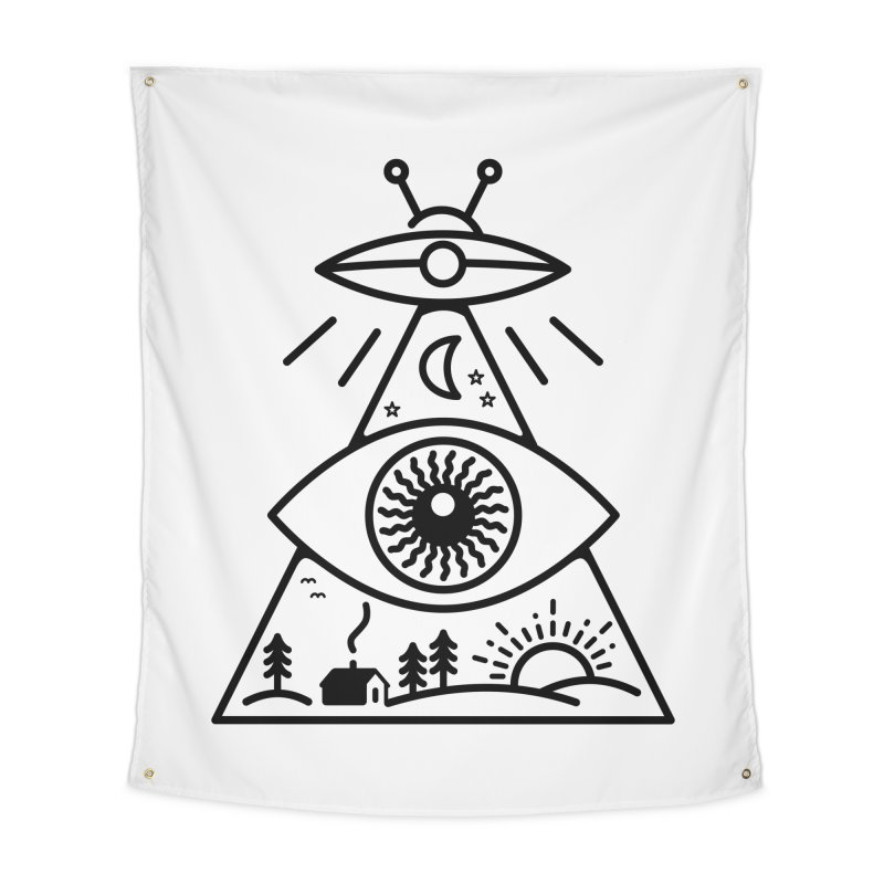 They Watch Us Home Tapestry by 38 Sunsets