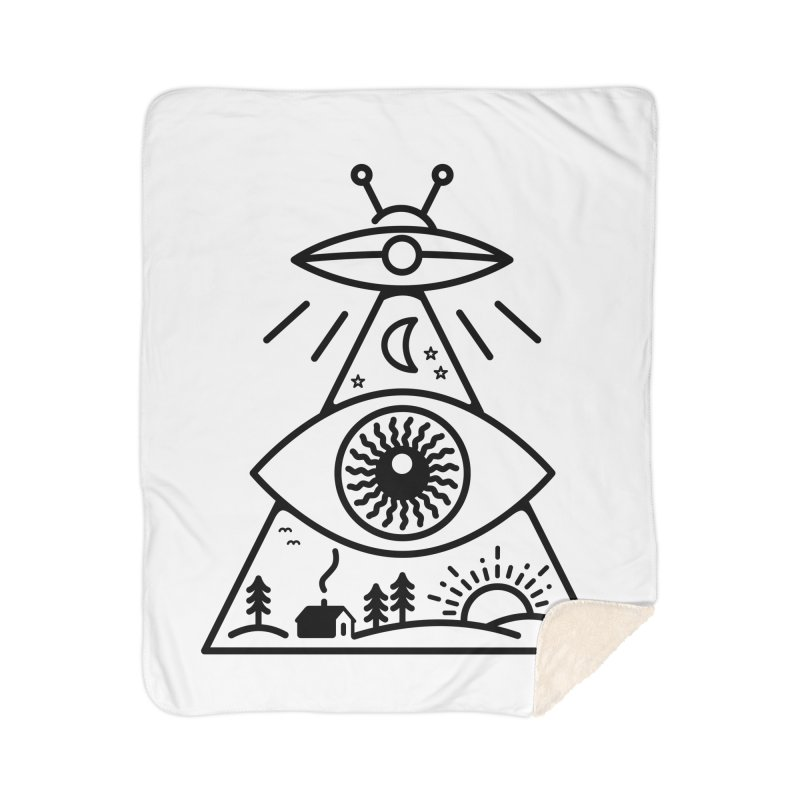 They Watch Us Home Sherpa Blanket Blanket by 38 Sunsets