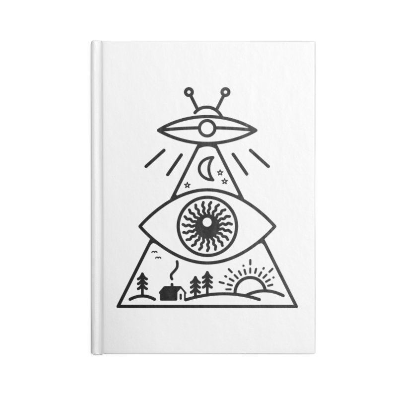 They Watch Us Accessories Blank Journal Notebook by 38 Sunsets