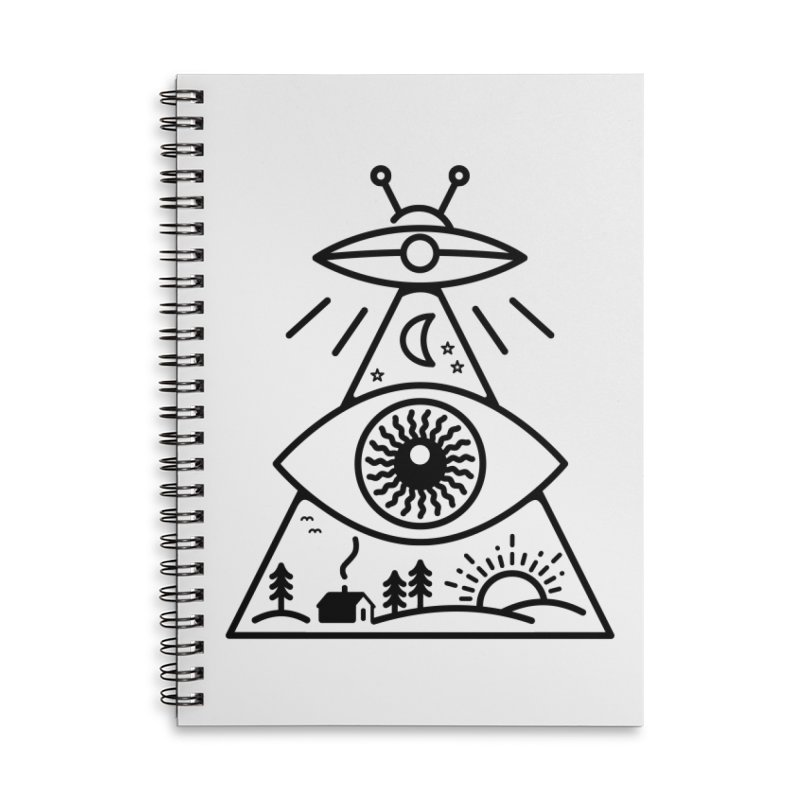 They Watch Us Accessories Lined Spiral Notebook by 38 Sunsets