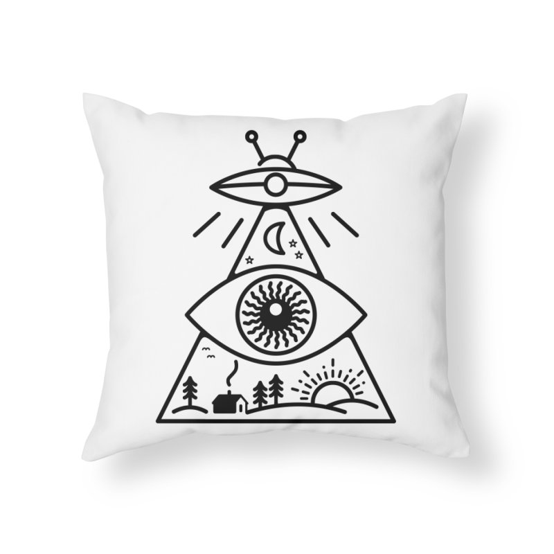 They Watch Us Home Throw Pillow by 38 Sunsets