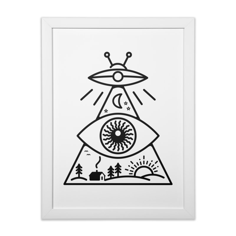 They Watch Us in Framed Fine Art Print White by 38 Sunsets