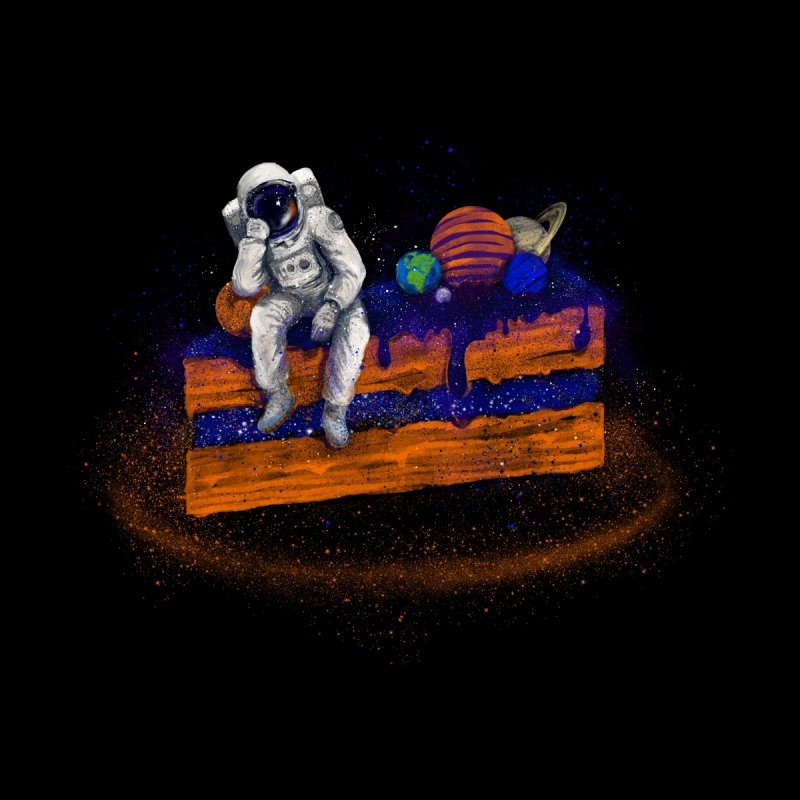 Space Cake Kids T-Shirt by 38 Sunsets