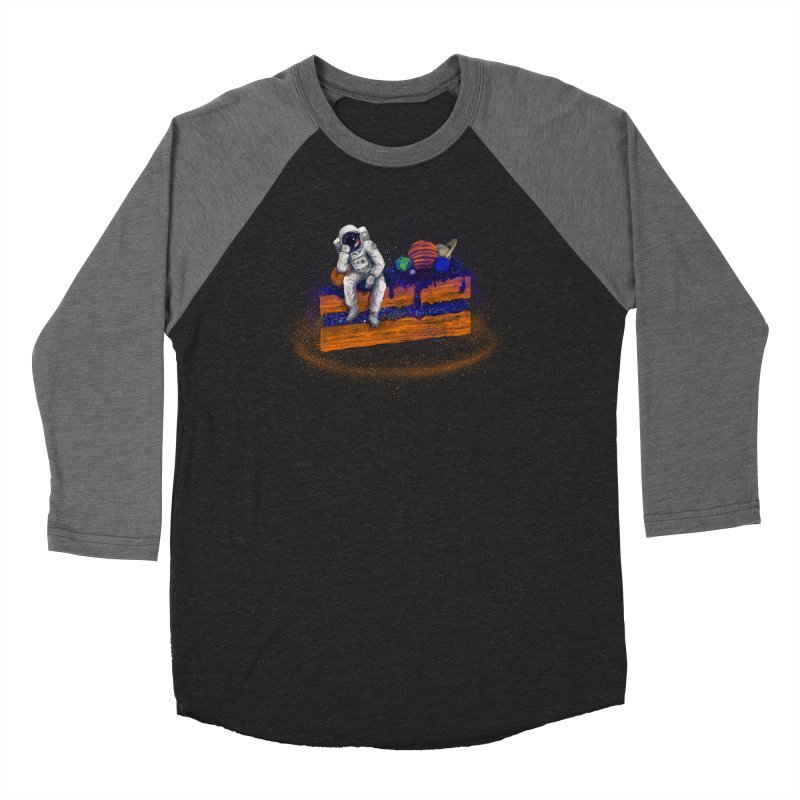 Space Cake Men's Baseball Triblend Longsleeve T-Shirt by 38 Sunsets