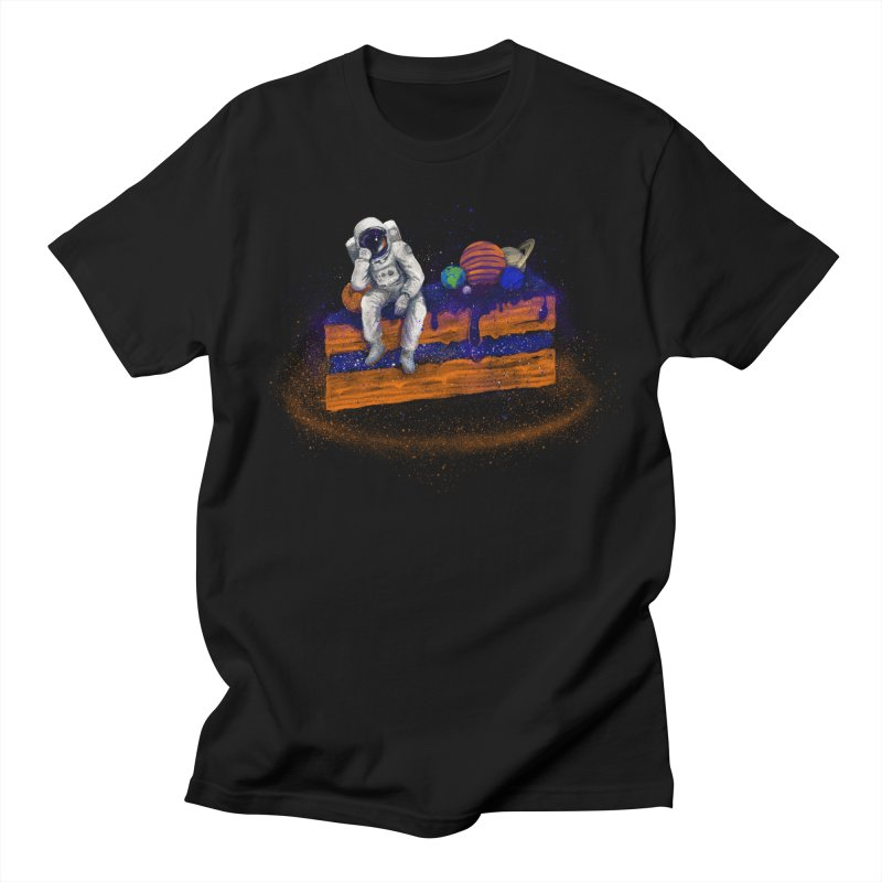 Space Cake Men's T-shirt by 38 Sunsets