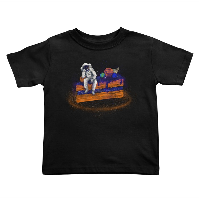 Space Cake Kids Toddler T-Shirt by 38 Sunsets