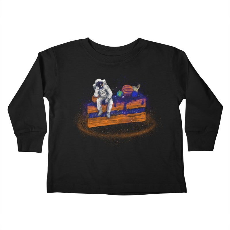 Space Cake Kids Toddler Longsleeve T-Shirt by 38 Sunsets