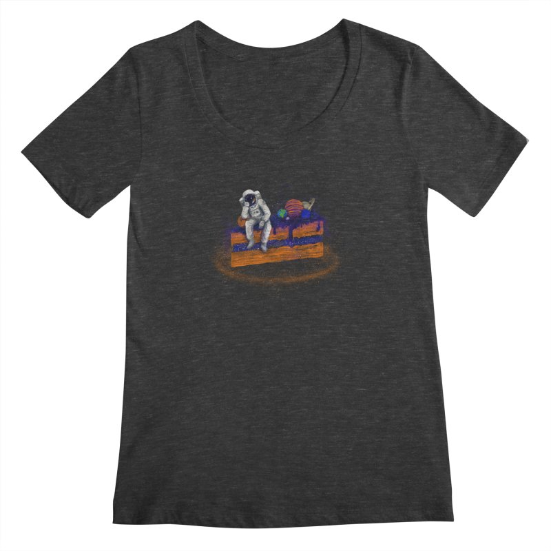 Space Cake Women's Scoopneck by 38 Sunsets