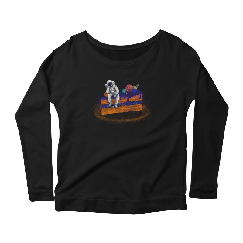Space Cake Women's Scoop Neck Longsleeve T-Shirt by 38 Sunsets