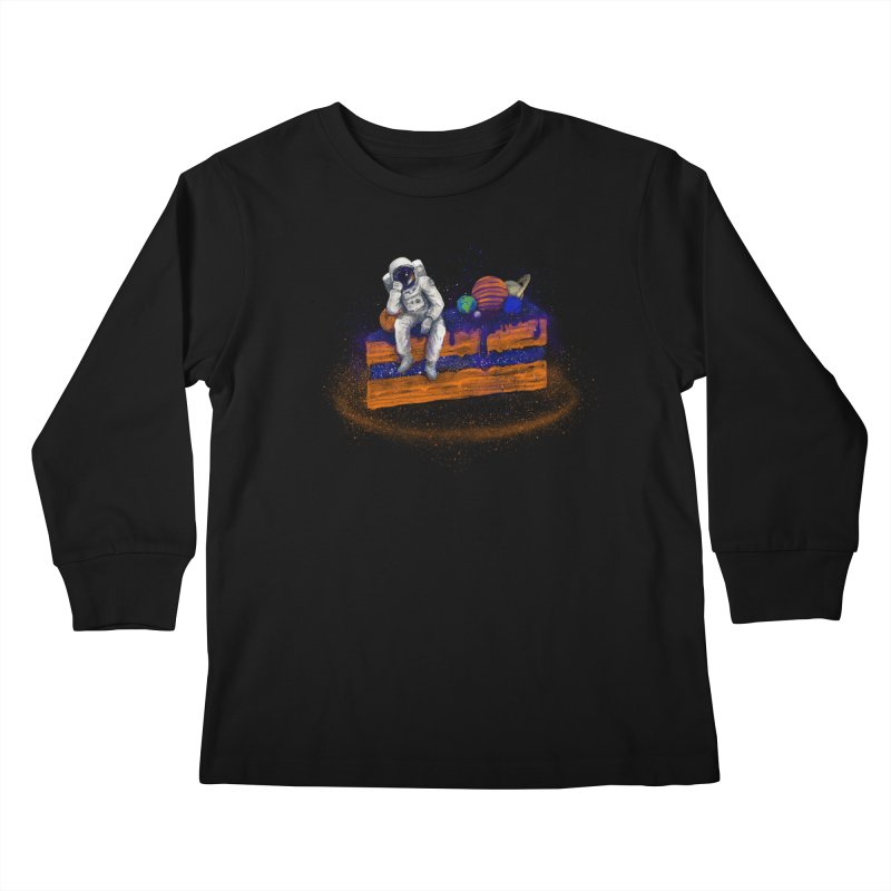 Space Cake Kids Longsleeve T-Shirt by 38 Sunsets
