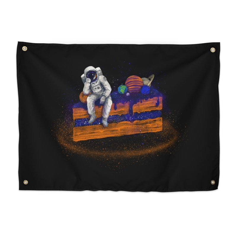 Space Cake Home Tapestry by 38 Sunsets