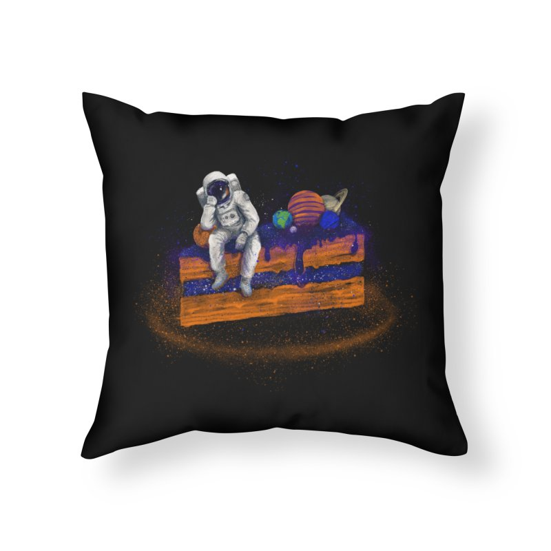 Space Cake Home Throw Pillow by 38 Sunsets