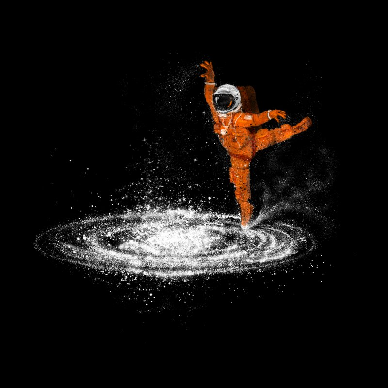 Space Dance Men's T-Shirt by 38 Sunsets