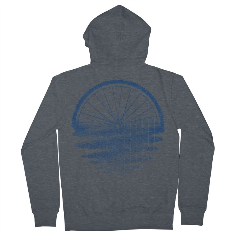 Blue Sunset Mystery Men's French Terry Zip-Up Hoody by 38 Sunsets