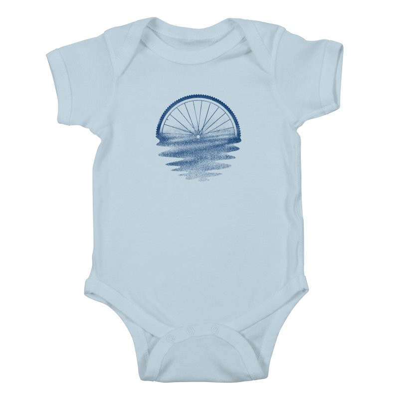 Blue Sunset Mystery Kids Baby Bodysuit by 38 Sunsets