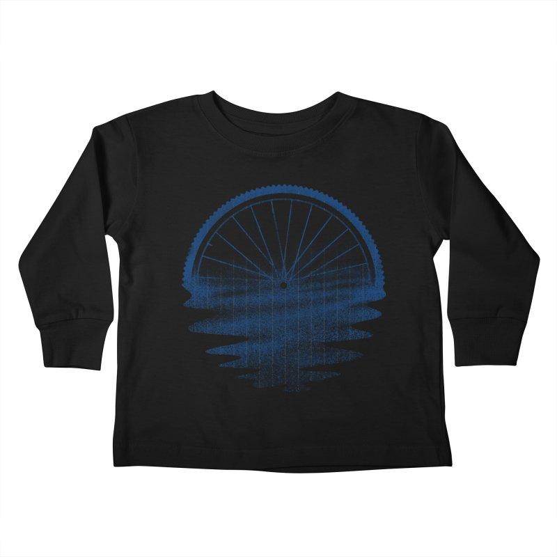 Blue Sunset Mystery Kids Toddler Longsleeve T-Shirt by 38 Sunsets